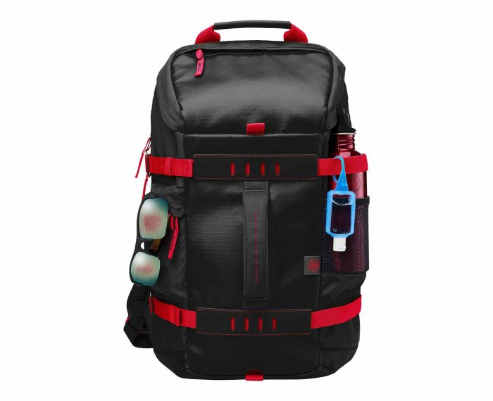 HP Odyssey Red Black 15.6 Inch Laptop Backpack