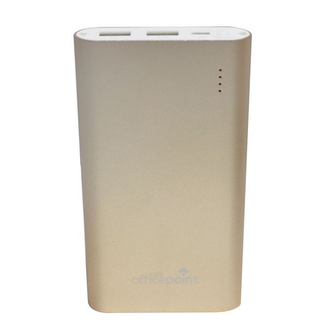 Office Point 5,000mAh Gold Rechargeable Battery Bank