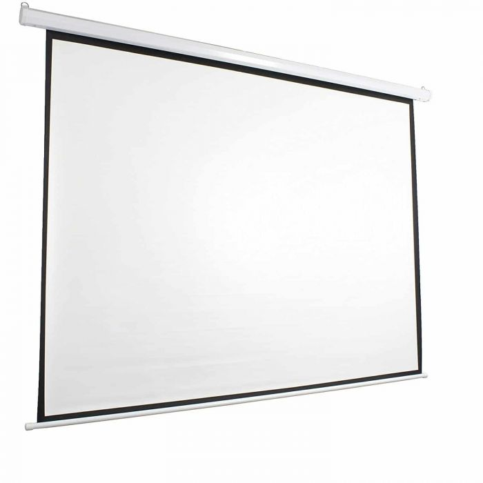 Office point 60X60 Electrical projector screen with wired remote