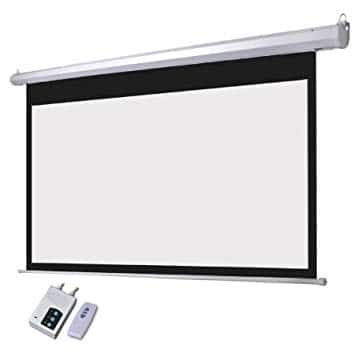 Office point 96X96 Electrical projector screen with wired remote