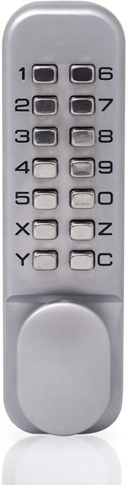Yale P-DL02-SC Push Button Door Lock, Hold Open Function