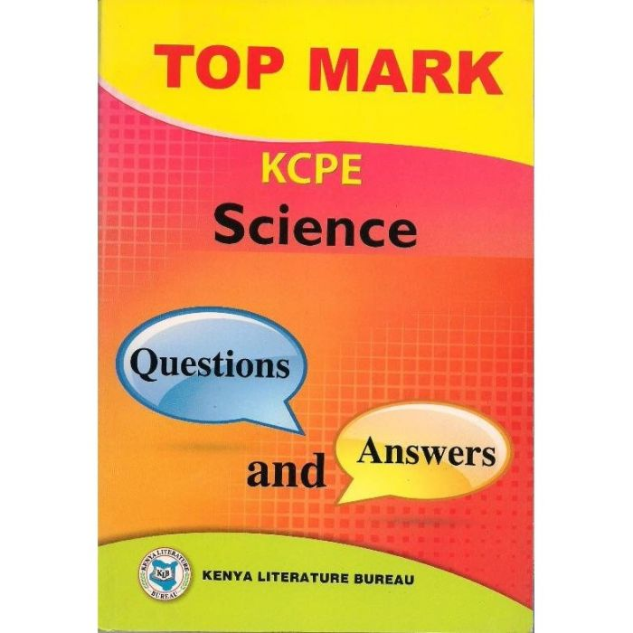 KLB Top Mark KCPE Science Questions & Answers