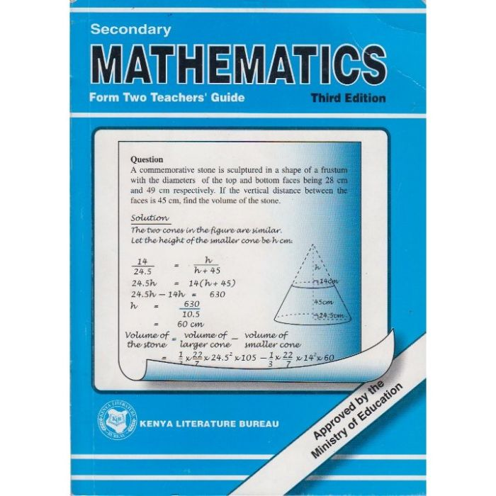 KLB Secondary Maths Form 2 T/G [Approved]