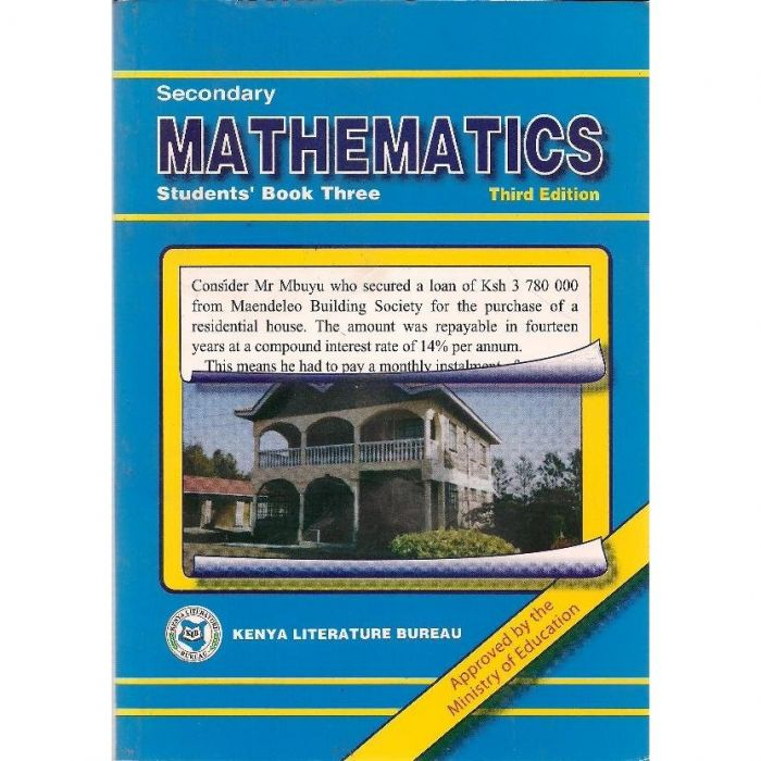 KLB Secondary Maths Form 3 S/B [Approved]