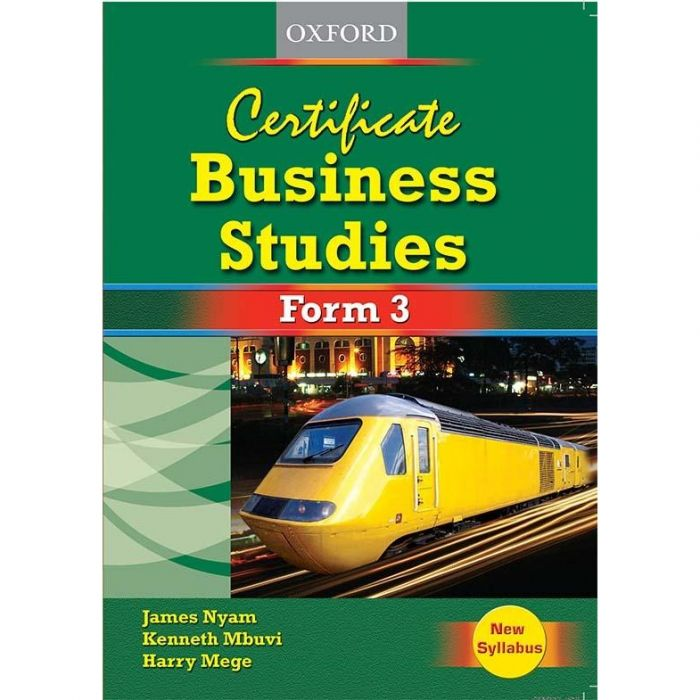 Oxford Certificate Business Studies Form 3 Student's Book, New edition