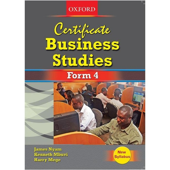 Oxford Certificate Business Studies Form 4 Student's Book