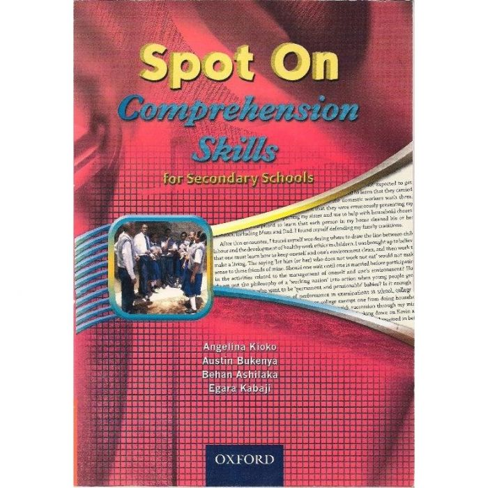 Oxford Spot On Comprehension Skills for Secondary Schools