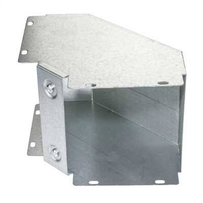 Tri Compartment Metallic Trunking 150mmx50mm Outside bends