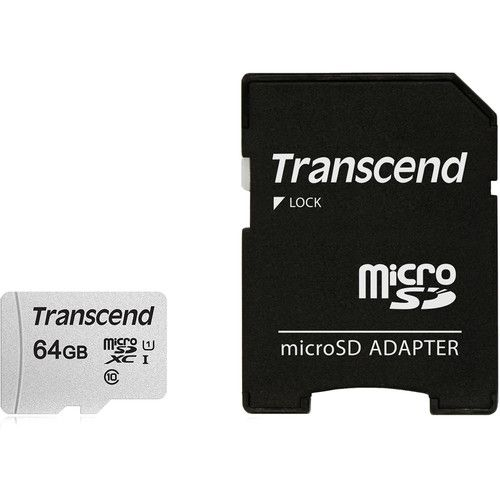 Transcend 64GB Memory Card with Adapter