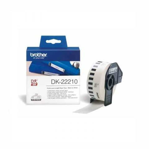 Brother DK 22210 Continuous Paper Label Roll-29mm