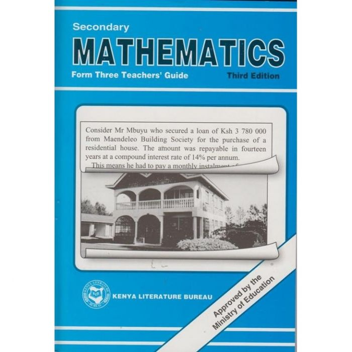 KLB Secondary Maths Form 3 T/G [Approved]
